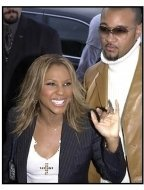Toni Braxton and Keri Lewis at the 2001 Soul Train Music Awards