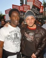 Isaiah Washington and Justin Chambers