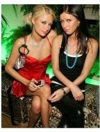 Paris and Nicky Hilton at Just Cavalli Flaunt Magazine's 6th Year Anniversary Party