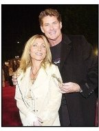 "David Hasselhoff and wife Pamela at ""The Last Samurai"" premiere"