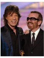 Mick Jagger & David A. Stewart at the 62nd Golden Globe Awards