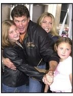 David Hasselhoff and family at the Atlantis premiere