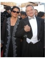 Robin Williams and wife on the red carpet at the 62nd Golden Globe Awards