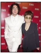 Sean Lennon and Yoko Ono at the EMI Post Grammy Party