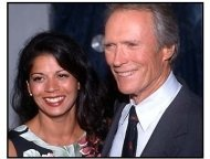 Clint Eastwood and Dina Ruiz at the Space Cowboys premiere