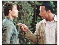 """""""The Rundown"""" Movie Still: The Rock and Seann William Scott"""