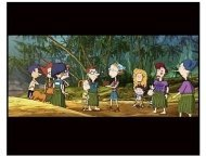 Rugrats Go Wild Movie Still: Stu Pickles, Didi Pickles, Spike, Kira Finster, Chas Finster, Eliza Thornberry, Drew Pickles, Marianne Thornberry, Debbie Thornberry, Donnie Thornberry, Darwin, Betty DeVi