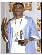 Nelly backstage at the 2001 Soul Train Music Awards