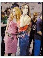 Thalia and Paulina Rubio at the 2001 Latin Grammy Nominations
