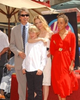 David E. Kelley with Michelle Pfeiffer and family