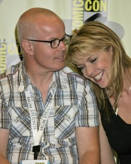 Gary Jones and Amanda Tapping