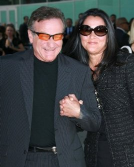 Robin Williams and Marsha Garces Williams