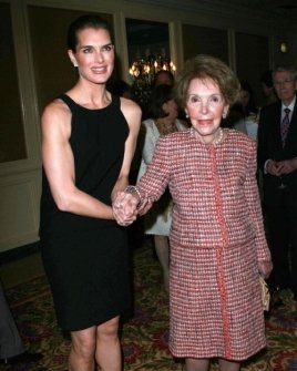 Brooke Shields and Nancy Reagan