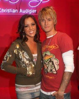 Kaci Brown and Aaron Carter