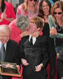 Rodney Bingenheimer with family and friends