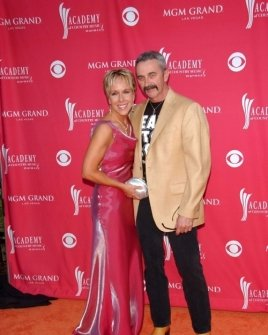 Aaron Tippin and friend