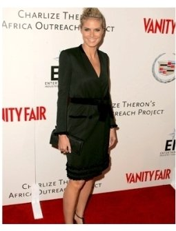 Heidi Klum at the Vanity Fair and EFI Amped For Africa pre-Oscar benefit