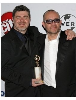 NBC Universal GG After Party Photos: Gustavo Santolalla and Bernie Taupin