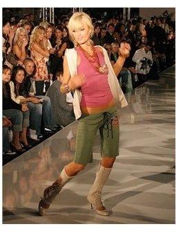 Paris Hilton modeling 2 B Free's Spring 2006 Collection