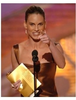 Hilary Swank at the 62nd Golden Globe Awards