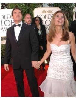 Arnold and Maria on the red carpet at the 62nd Golden Globe Awards