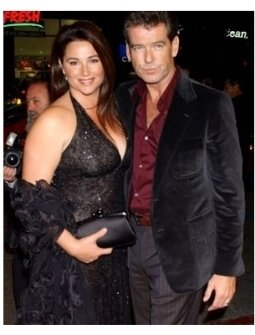 Pierce Brosnan and Wifeat the After the Sunset Premiere