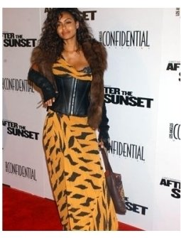 Shakara Ledard at the After the Sunset Premiere