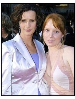 "Rachel Griffiths and  Lauren Ambrose on the red carpet at the ""Six Feet Under"" Premiere"