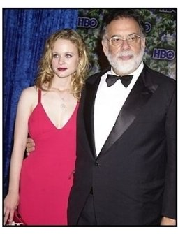 Thora Birch and Francis Ford Coppola at the HBO party following the 55th Annual Primetime Emmy Awards