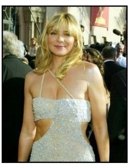 Kim Cattrall on the red carpet at the 2003 Emmy Awards