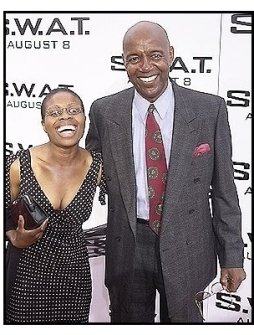 "Rod Perry and Jacqueline Jean-Baptiste at the ""S.W.A.T."" premiere"