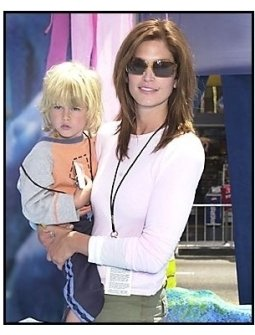 """Cindy Crawford and son Presley Walker Gerber at the """"Finding Nemo"""" premiere"""