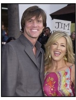 """Jim Carrey and Lisa Ann Walter at the """"Bruce Almighty"""" premiere"""
