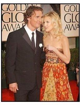 2003 Golden Globe Awards: Matthew McConaughey and Kate Hudson
