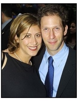 Tim Blake Nelson and wife Lisa at the Minority Report premiere