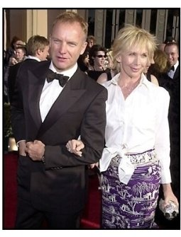 Sting and wife Trudie Styler at the 2002 SAG Screen Actors Guild Awards