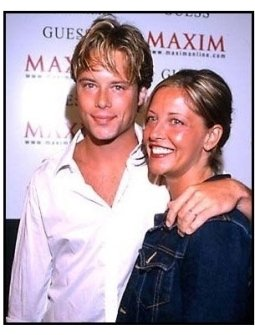 Brad Rowe and wife at the 2000 Maxim Motel Party