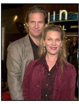 Jeff Bridges and wife at the K-PAX premiere