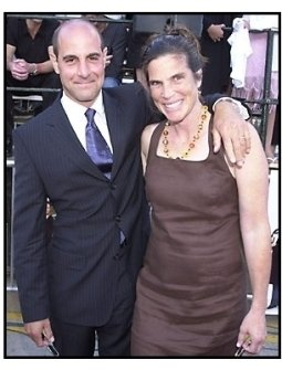 Stanley Tucci and date at the America's Sweethearts premiere