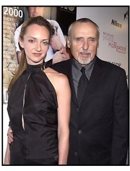 Dennis Hopper and wife at the 2001 Movieline Young Hollywood Awards