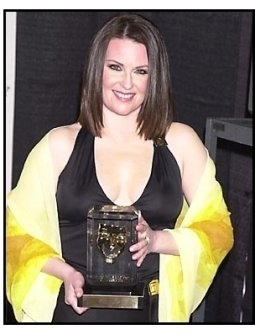 Megan Mullally backstage at the 2001 American Comedy Awards