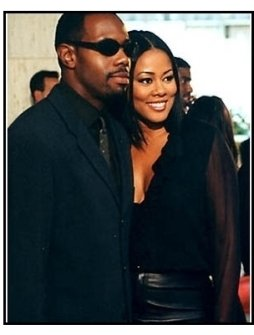 Antoine Fuqua and Lela Rochon at the Bait premiere