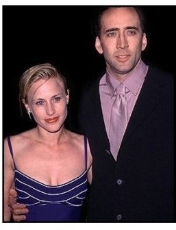 "Patricia Arquette and Nicolas Cage at the ""City of Angels"" Premiere"