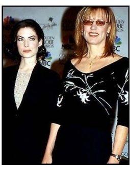 2001 Golden Globe Nominations: Lara Flynn Boyle and Christine Lahti at the 2001 Golden Globe Nominations