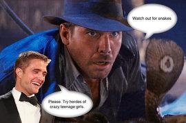 Robert Pattinson, Harrison Ford, Indiana Jones