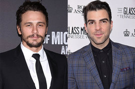 James Franco and Zachary Quinto