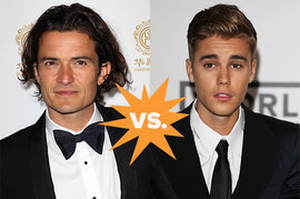 Orlando Bloom and Justin Bieber