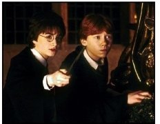 Harry Potter and the Chamber of Secrets  movie still: Daniel Radcliffe as Harry Potter and Rupert Grint as Ron Weasley