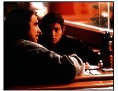 "Y Tu Mama Tambien movie still: Director Aflonso Cuaron and Diego Luna on the set of ""Y Tu Mama Tambien"""