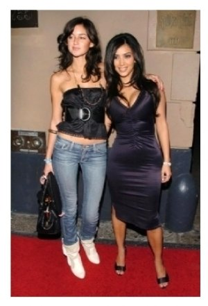 Caroline D'Amore and Kim Kardashian